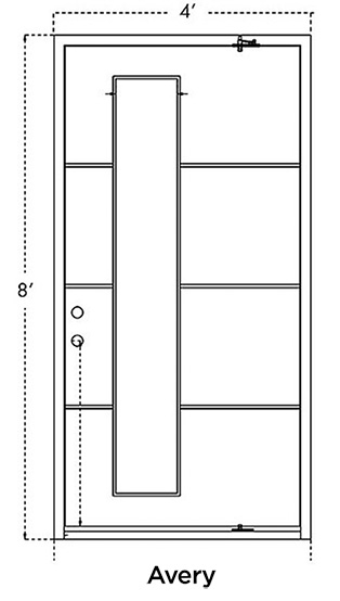 Avery Iron Pivot Door