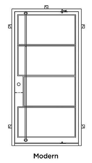 Modern Iron Pivot Door