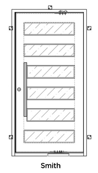 Smith Iron Pivot Door